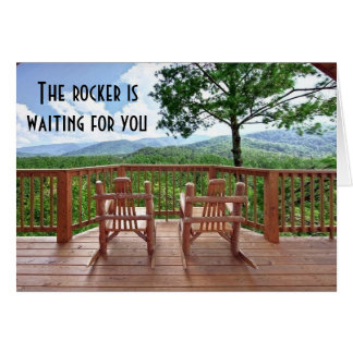 50th ROCKER IS WAITING FOR YOU HUMOR Card