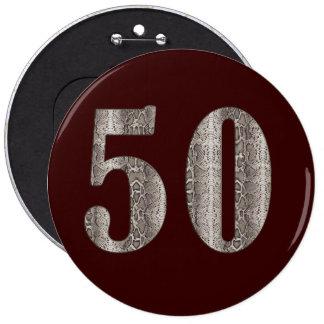 50th Snakeskin Button