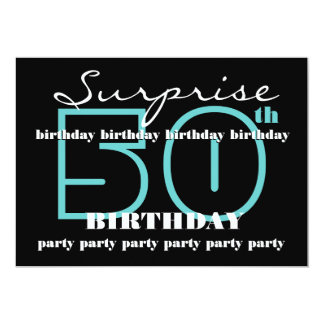 50th SUPRISE Birthday Party Invitation Template