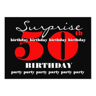 50th SUPRISE Birthday Party Invitation Template V2