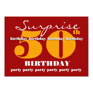 50th SUPRISE Birthday Party Invitation Template V5