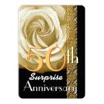 50th SURPRISE Anniversary Invitation Rose V01A Custom Invite