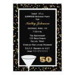 50th Surprise Birthday Party Invitation Custom Announcements