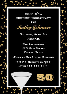 Surprise 50th birthday invitations announcements zazzle 50th surprise birthday party invitation filmwisefo