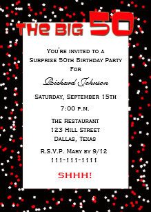 Surprise 50th birthday invitations announcements zazzle 50th surprise birthday party invitation confetti filmwisefo