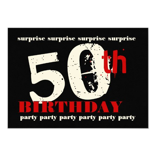 50th surprise birthday party invitation template zazzle. Black Bedroom Furniture Sets. Home Design Ideas