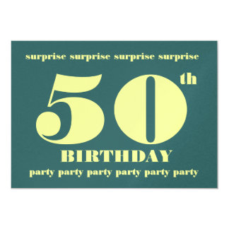 50th SURPRISE Birthday Party Invitation Template