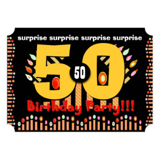 50th SURPRISE Birthday Party Template A01