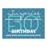 "50th SURPRISE Birthday Powder Blue Circles W486 5"" X 7"" Invitation Card"