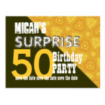 50th Surprise Birthday Save the Date W001Z Post Card