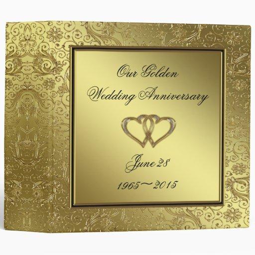 50th Wedding Anniversary 2 Album 3 Ring Binders