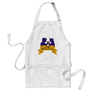 50th wedding anniversary 2t adult apron