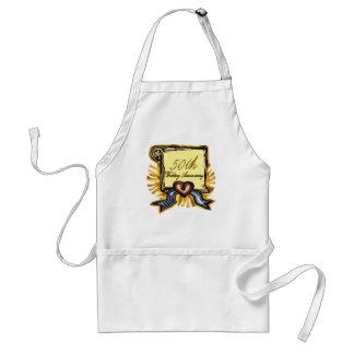 50th wedding anniversary 3w adult apron