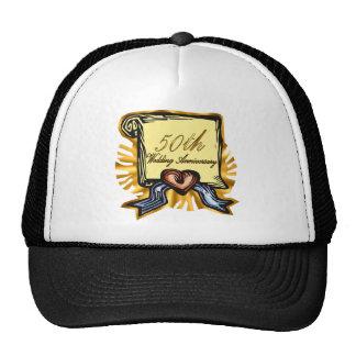 50th wedding anniversary 3w trucker hat