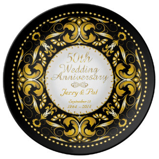 50th Wedding Anniversary 4 - Ceramic Plate Porcelain Plates