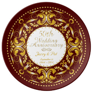 50th Wedding Anniversary 8 - Ceramic Plate