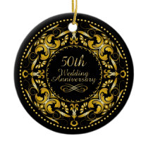 50th Wedding Anniversary 9B - Ornament
