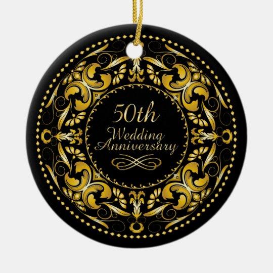 50th Wedding Anniversary Gift Etiquette: 50th Wedding Anniversary 9B - Ornament