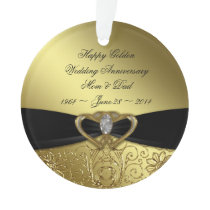 50th Wedding Anniversary Acrylic Ornament