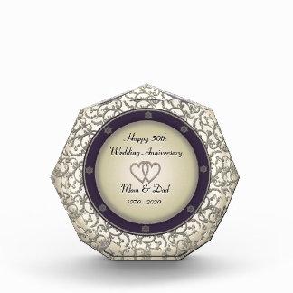 50th Wedding Anniversary Acrylic Award