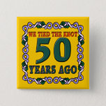 50th Wedding Anniversary Button