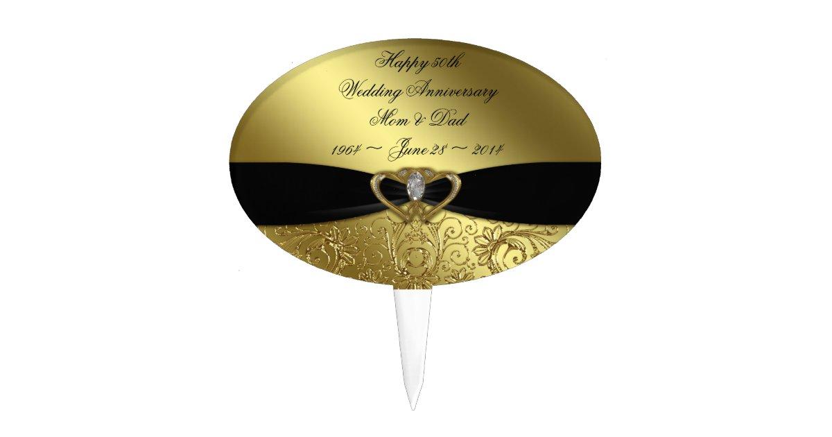 50th Wedding Anniversary Cake Topper   Zazzle.com