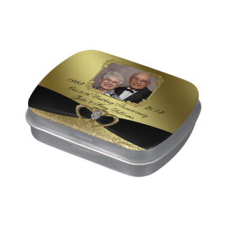 50th Wedding Anniversary Candy Tin