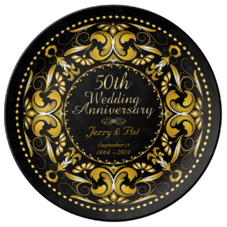 50th Wedding Anniversary - Ceramic Plate Porcelain Plate