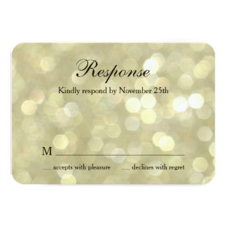 50th Wedding Anniversary Champagne Bubbles RSVP Card