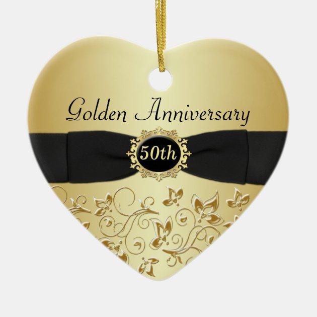 50th Wedding Anniversary Christmas Ornament   Zazzle