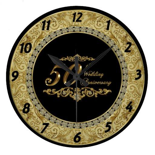 50th wedding anniversary clock zazzle With 50th wedding anniversary clock