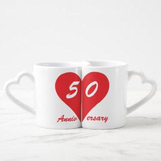 50th Wedding Anniversary Coffee Mug Set