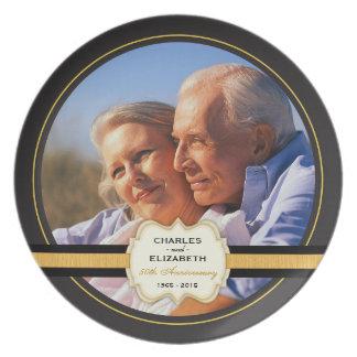 50th Wedding Anniversary Commemorative Plate