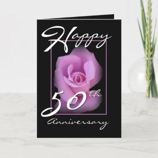 50th Wedding Anniversary Congratulations Pink Rose Card