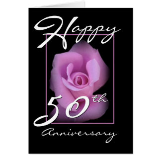 50th Wedding Anniversary Congratulations Pink Rose Card