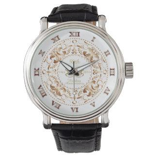 50th Wedding Anniversary Copper Ornate - Watch