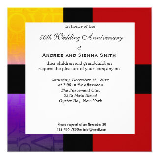 50th Wedding Anniversary Custom Announcements