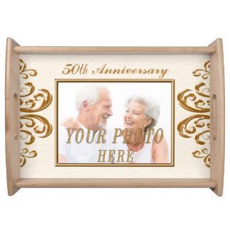 50th Wedding Anniversary Custom PHOTO Serving Tray