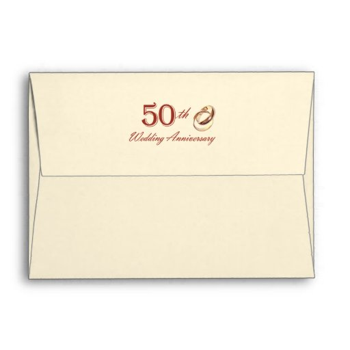 50th Wedding Anniversary  Customizable Envelopes Envelopes