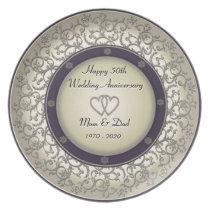 50th Wedding Anniversary Dinner Plate