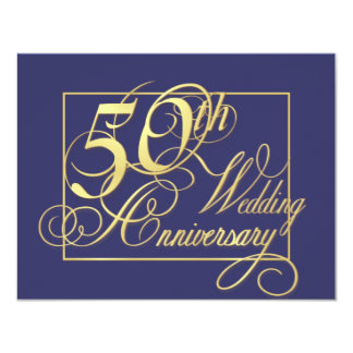 50th Wedding Anniversary - Economy Special Card