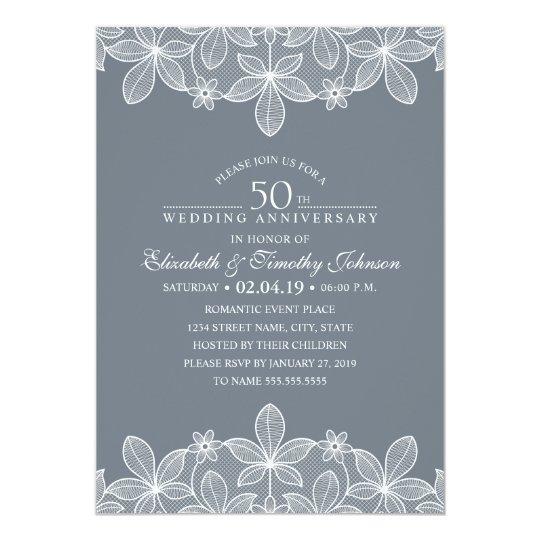 rustic wood 50th wedding anniversary invitation