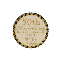 50th Wedding Anniversary Favor-Mints Candy Tin at Zazzle