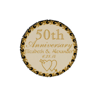 50th Wedding Anniversary Favor-Mints Candy Tin