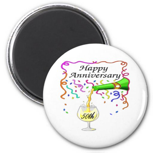 50th wedding anniversary fridge magnets