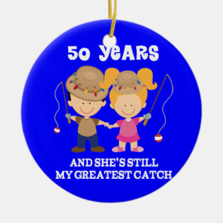 50th Wedding Anniversary Funny Gift For Him Ceramic Ornament