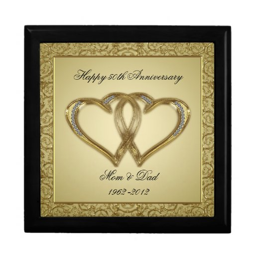 Wedding Anniversary Gift Box : 50th Wedding Anniversary Gift Box Zazzle