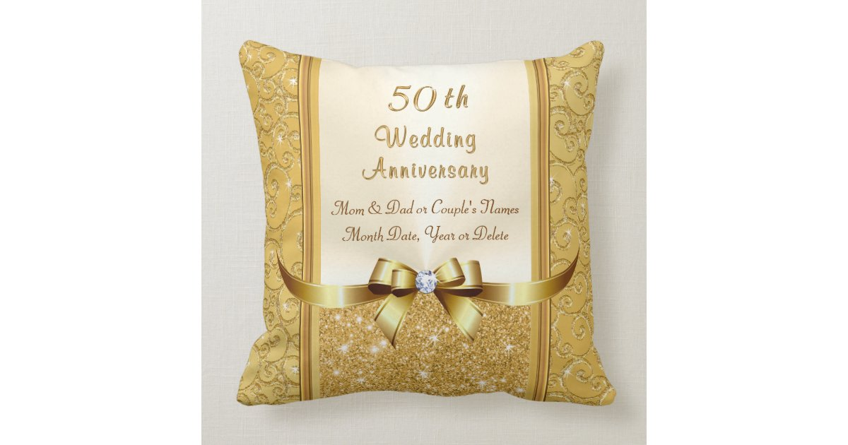 50th Wedding Anniversary Gift Pillows: 50th Wedding Anniversary Gift Ideas For Parents Throw