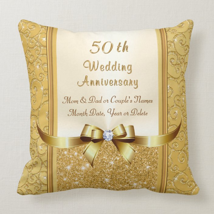 9th Wedding Anniversary Gift Ideas for Parents Throw Pillow  Zazzle.com