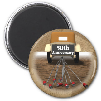 50th Wedding Anniversary Gifts 2 Inch Round Magnet